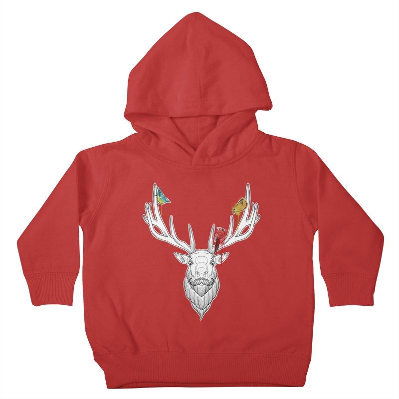 Oh Deer... Kids Toddler Pullover Hoody by Crazy Pangolin's Artist Shop