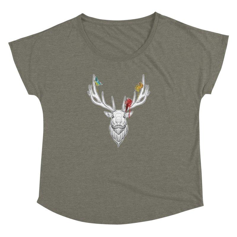 Oh Deer... Women's Dolman Scoop Neck by Crazy Pangolin's Artist Shop