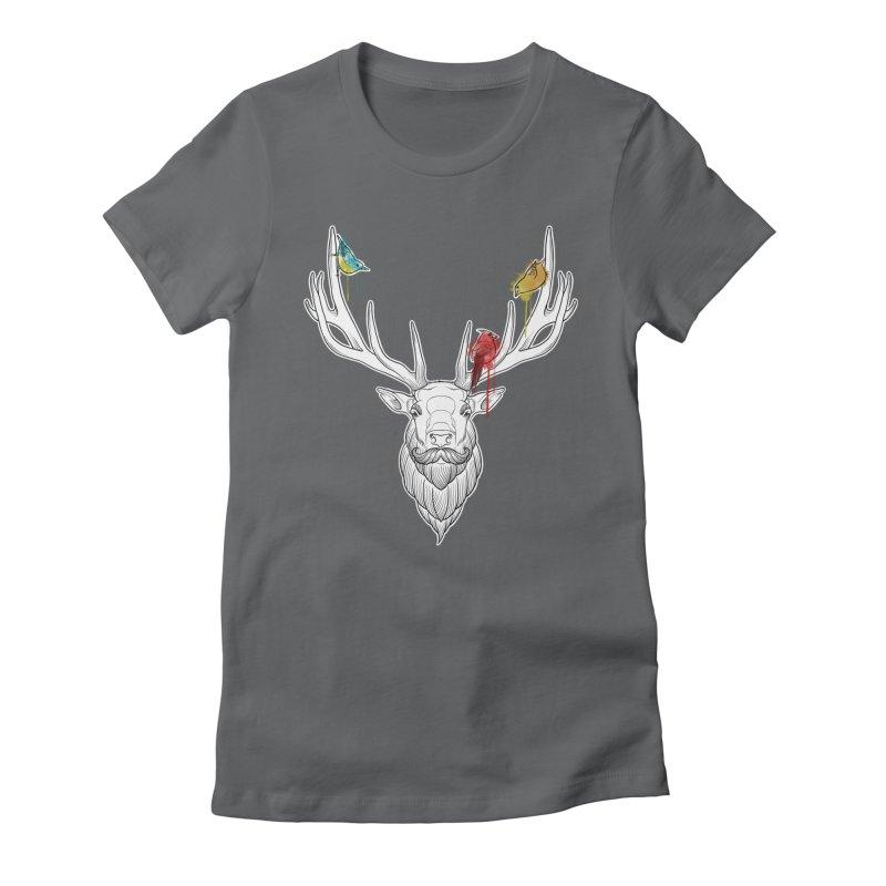 Oh Deer... Women's Fitted T-Shirt by Crazy Pangolin's Artist Shop