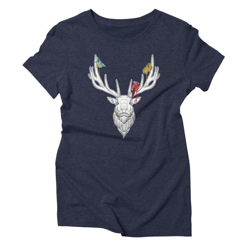 Oh Deer... Women's Triblend T-Shirt by Crazy Pangolin's Artist Shop