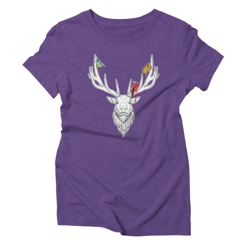 Oh Deer... Women's Triblend T-Shirt by Crazy Pangolin's Artist Shop