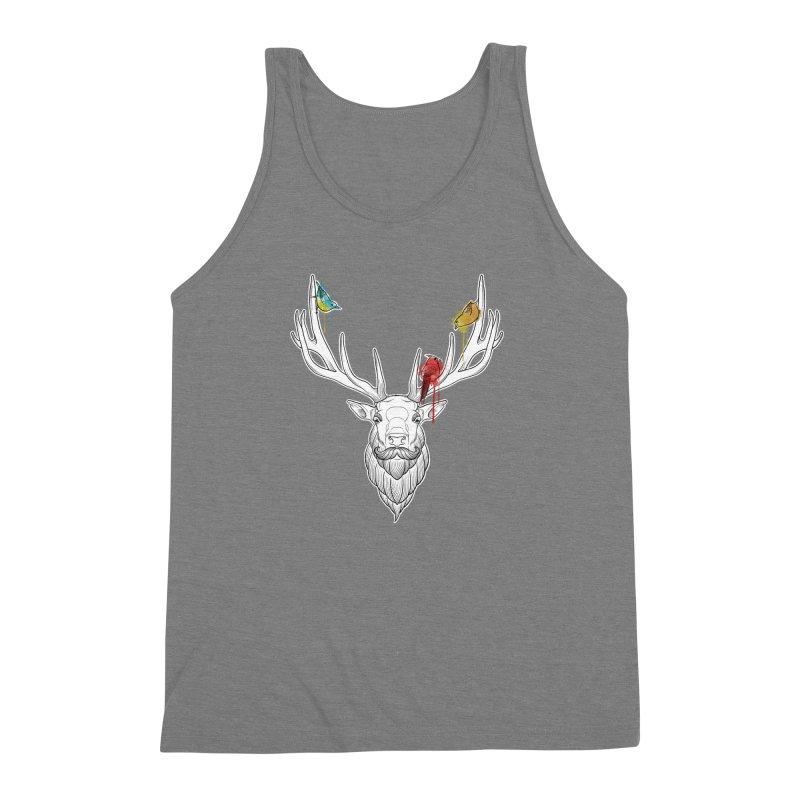 Oh Deer... Men's Triblend Tank by Crazy Pangolin's Artist Shop