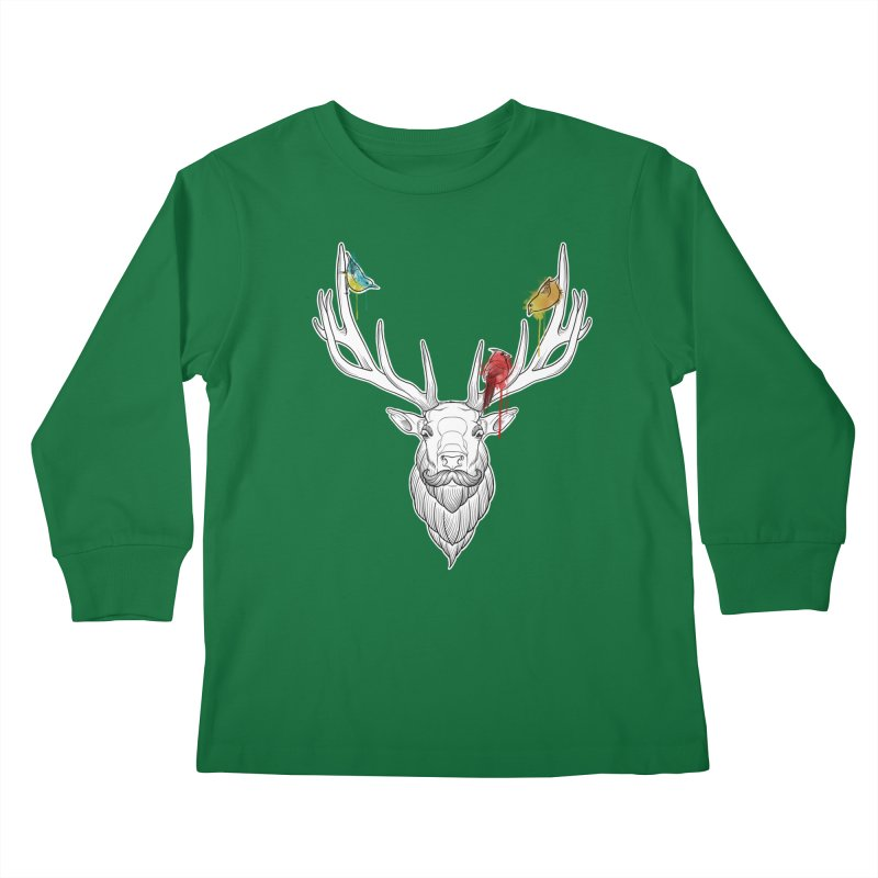 Oh Deer... Kids Longsleeve T-Shirt by Crazy Pangolin's Artist Shop