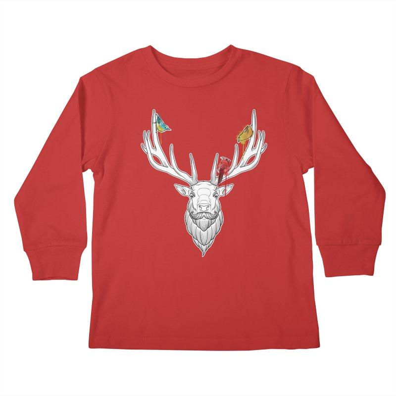 Oh Deer... Kids Longsleeve T-Shirt by Crazy Pangolin's Artist Shop