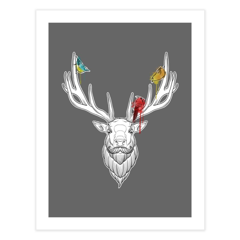 Oh Deer... Home Fine Art Print by Crazy Pangolin's Artist Shop