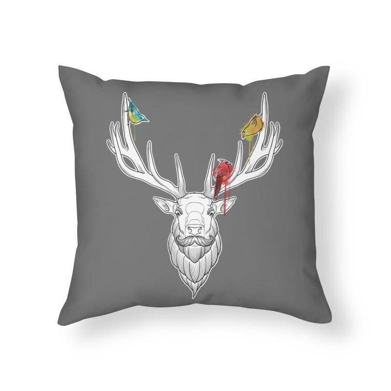 Oh Deer... Home Throw Pillow by Crazy Pangolin's Artist Shop