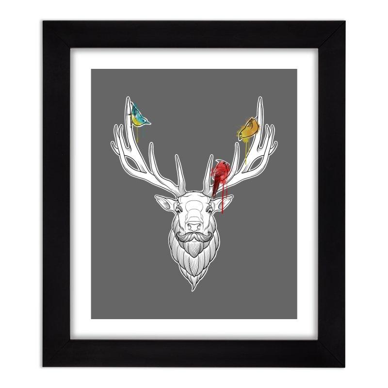 Oh Deer... Home Framed Fine Art Print by Crazy Pangolin's Artist Shop