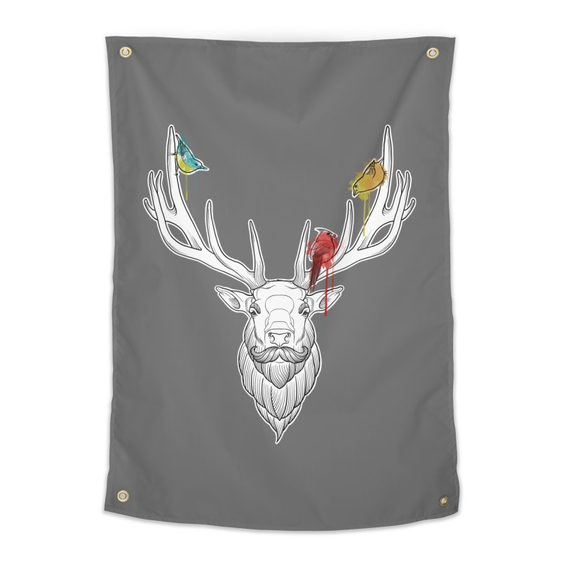 Oh Deer... Home Tapestry by Crazy Pangolin's Artist Shop