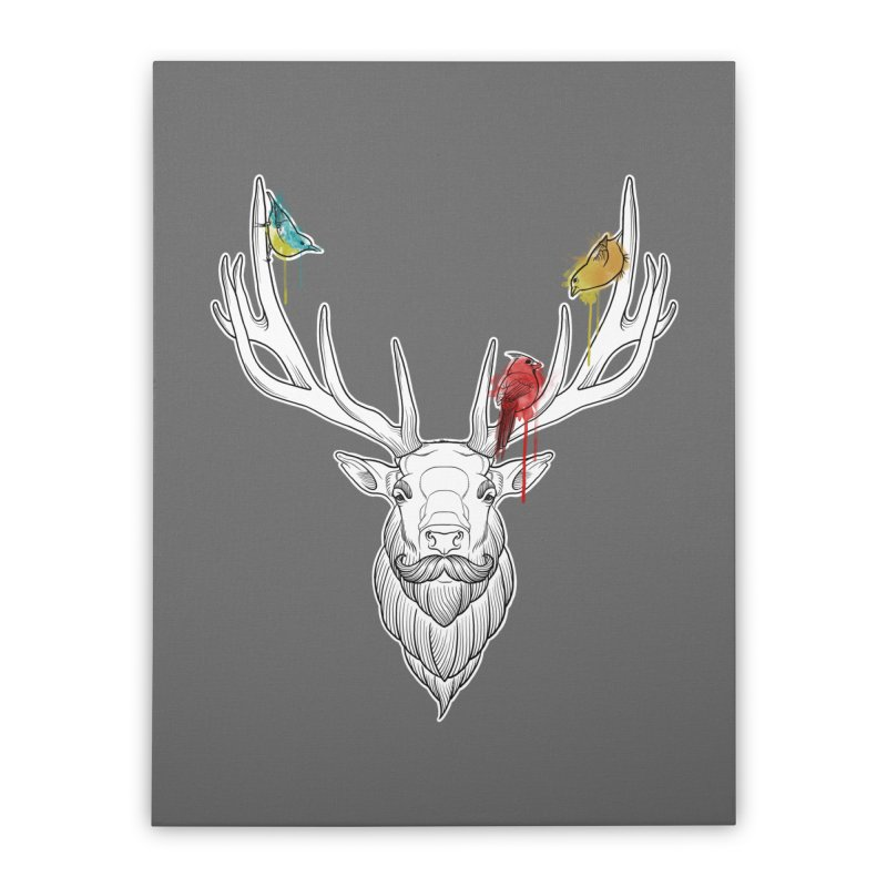 Oh Deer... Home Stretched Canvas by Crazy Pangolin's Artist Shop