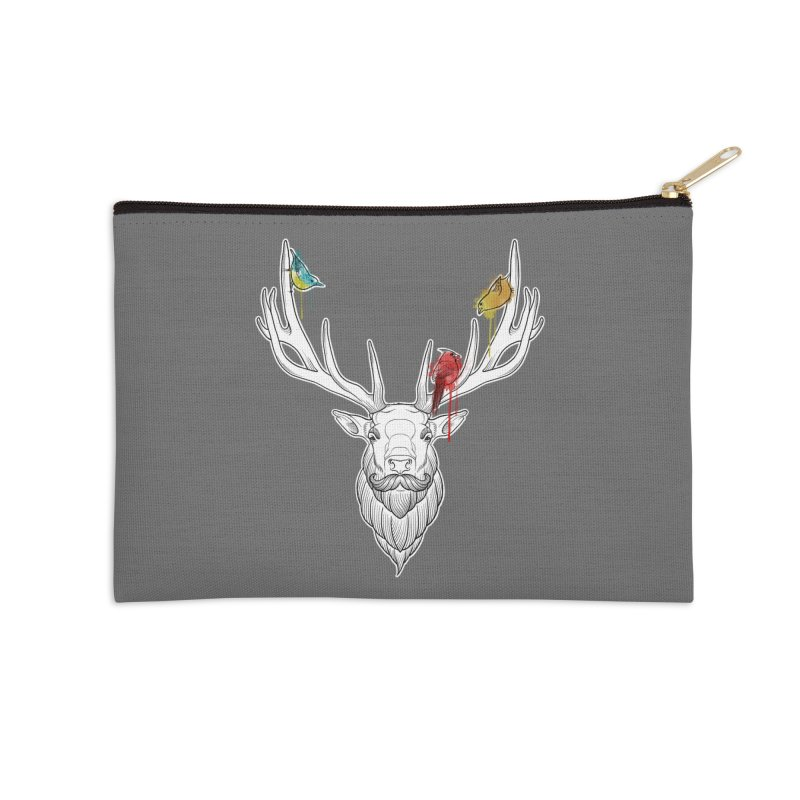 Oh Deer... Accessories Zip Pouch by Crazy Pangolin's Artist Shop