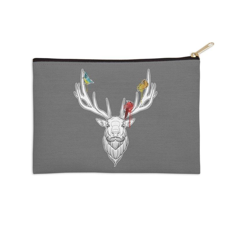 Oh Deer... Accessories Zip Pouch by Crazy Pangolin's Artist Shop
