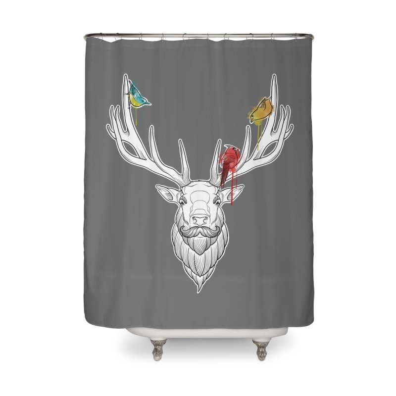 Oh Deer... Home Shower Curtain by Crazy Pangolin's Artist Shop