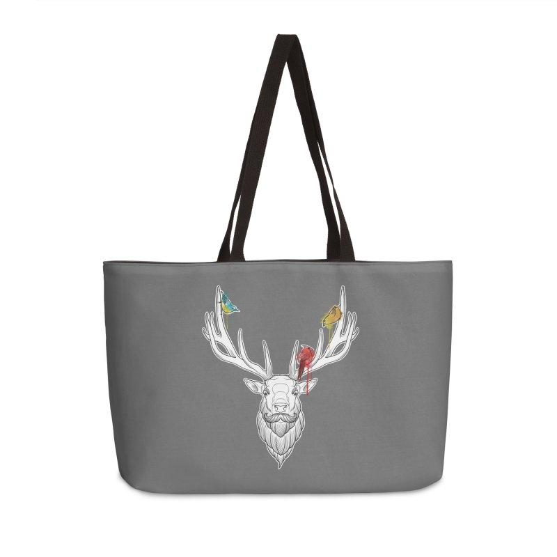 Oh Deer... Accessories Weekender Bag Bag by Crazy Pangolin's Artist Shop