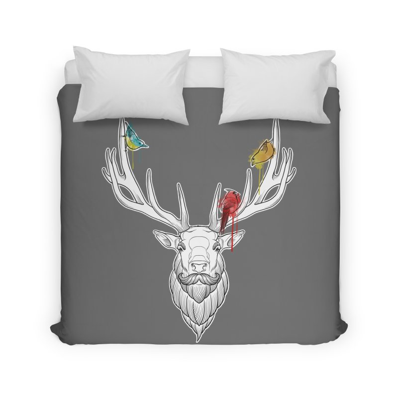 Oh Deer... Home Duvet by Crazy Pangolin's Artist Shop