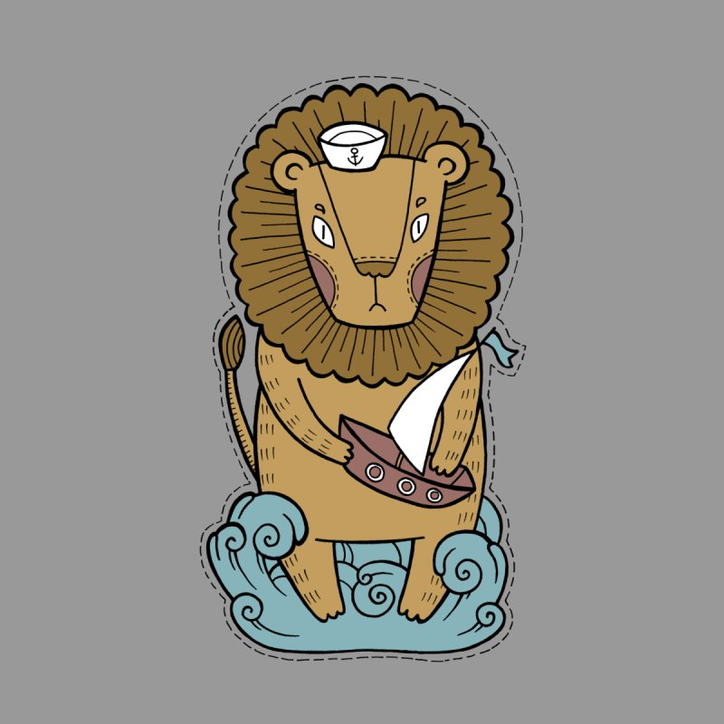 Sailor Lion by Crazy Pangolin's Artist Shop