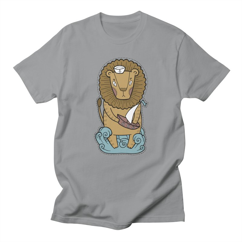 Sailor Lion Women's Regular Unisex T-Shirt by Crazy Pangolin's Artist Shop