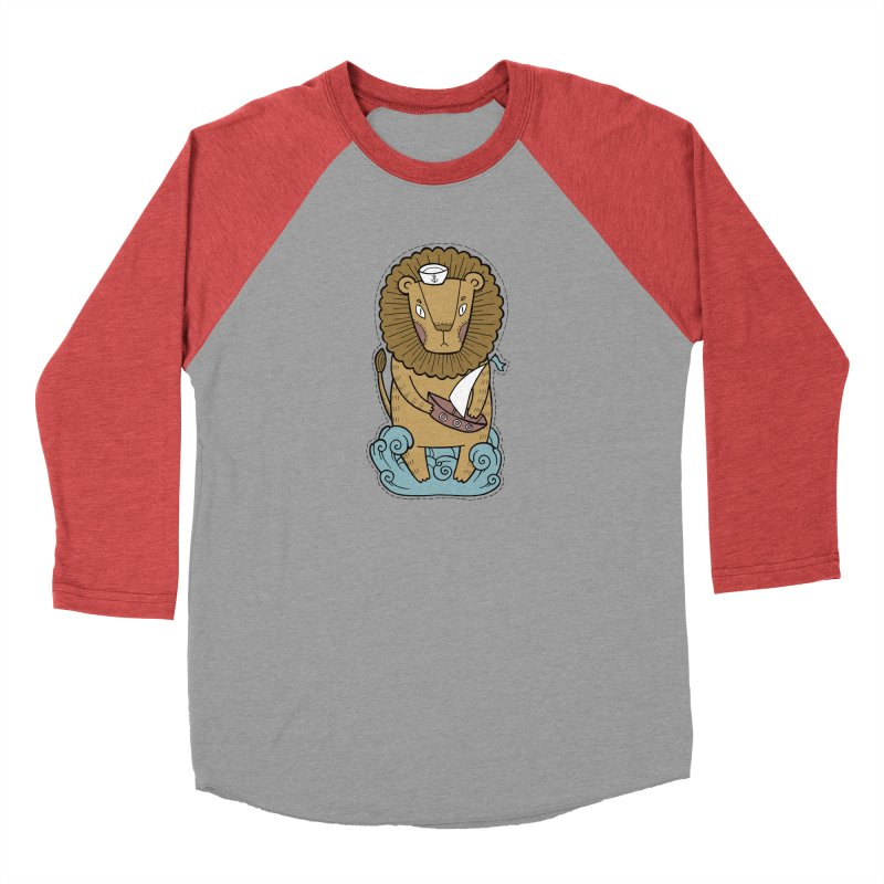 Sailor Lion Men's Longsleeve T-Shirt by Crazy Pangolin's Artist Shop
