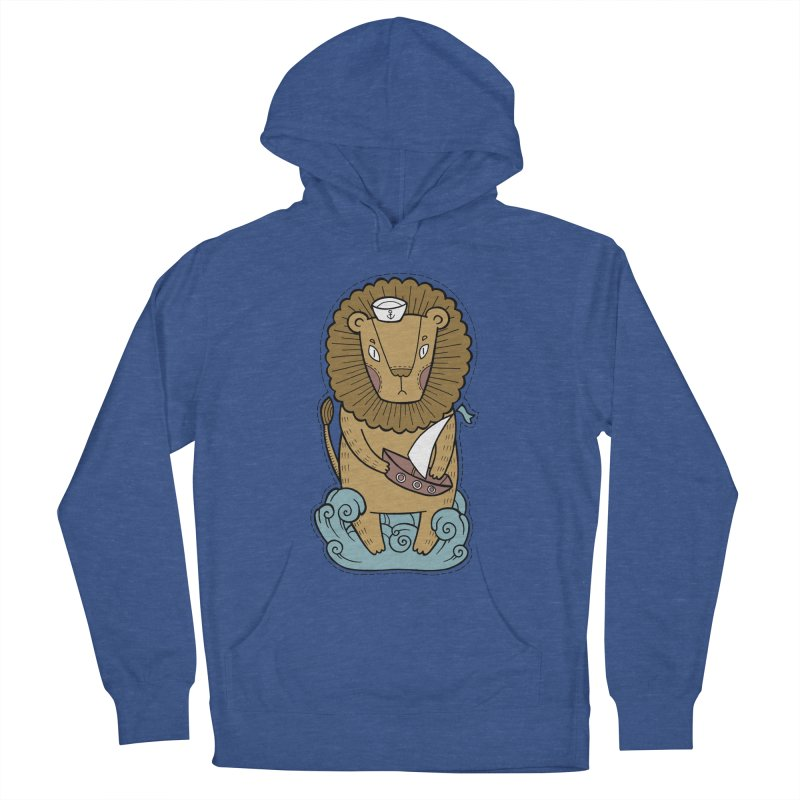 Sailor Lion Women's Pullover Hoody by Crazy Pangolin's Artist Shop