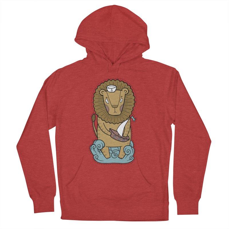 Sailor Lion Men's Pullover Hoody by Crazy Pangolin's Artist Shop