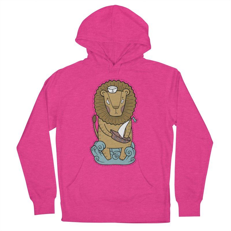 Sailor Lion Men's French Terry Pullover Hoody by Crazy Pangolin's Artist Shop