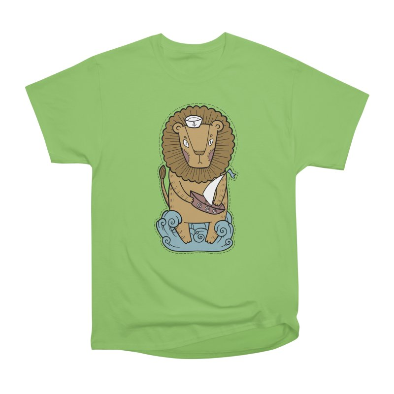Sailor Lion Women's Heavyweight Unisex T-Shirt by Crazy Pangolin's Artist Shop
