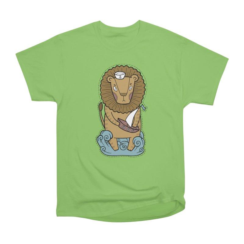 Sailor Lion Men's Heavyweight T-Shirt by Crazy Pangolin's Artist Shop