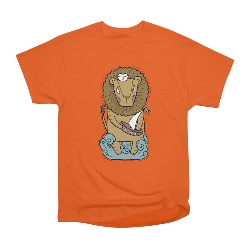 Sailor Lion Women's Heavyweight Unisex T-Shirt by Crazy Pangolin's Artist Shop