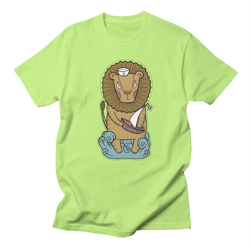 Sailor Lion Men's Regular T-Shirt by Crazy Pangolin's Artist Shop
