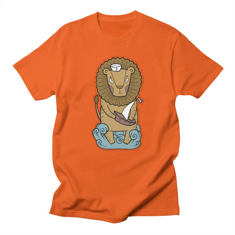 Sailor Lion Women's Unisex T-Shirt by Crazy Pangolin's Artist Shop
