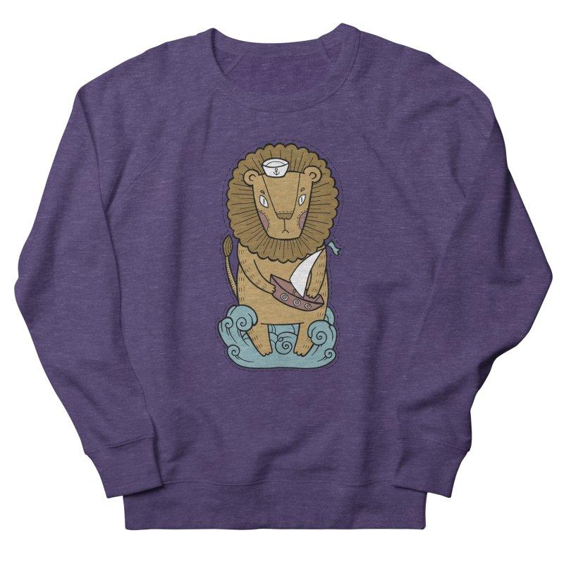 Sailor Lion Women's French Terry Sweatshirt by Crazy Pangolin's Artist Shop