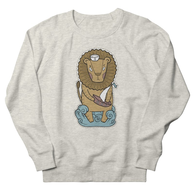 Sailor Lion Women's Sweatshirt by Crazy Pangolin's Artist Shop