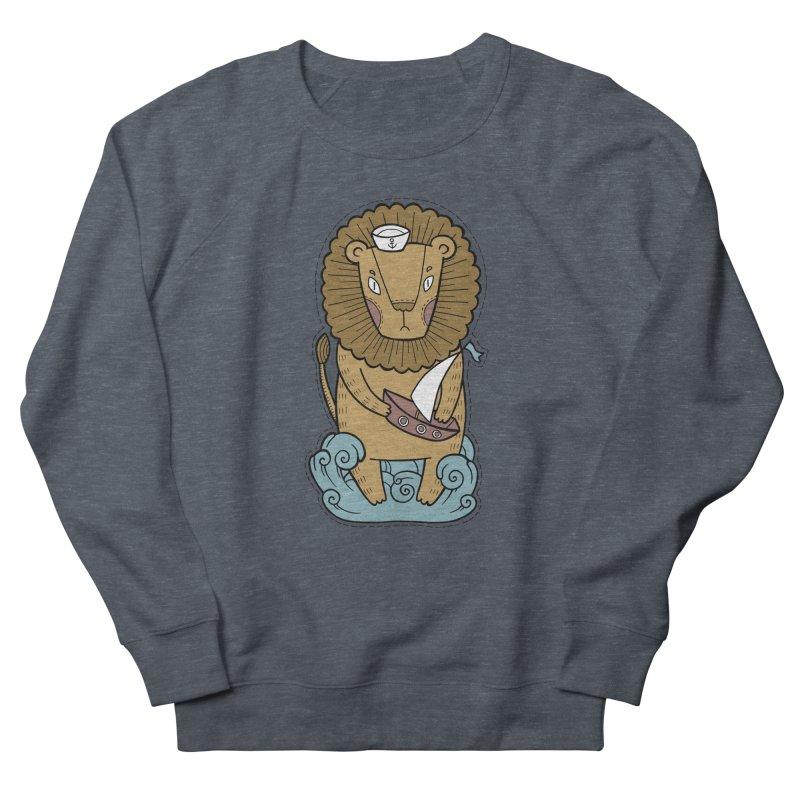 Sailor Lion Men's Sweatshirt by Crazy Pangolin's Artist Shop