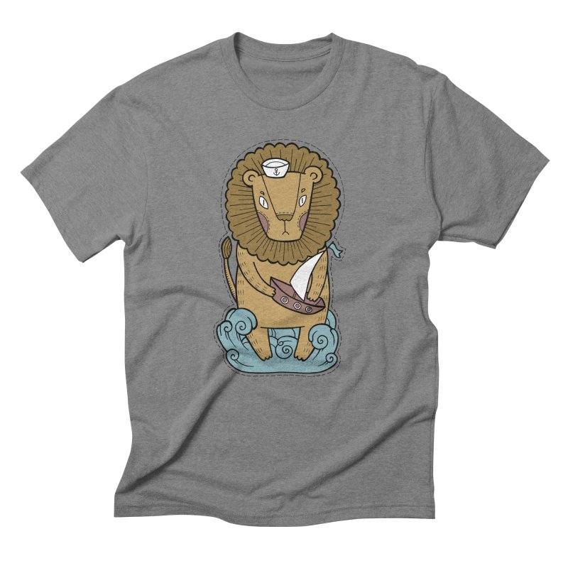 Sailor Lion Men's Triblend T-Shirt by Crazy Pangolin's Artist Shop