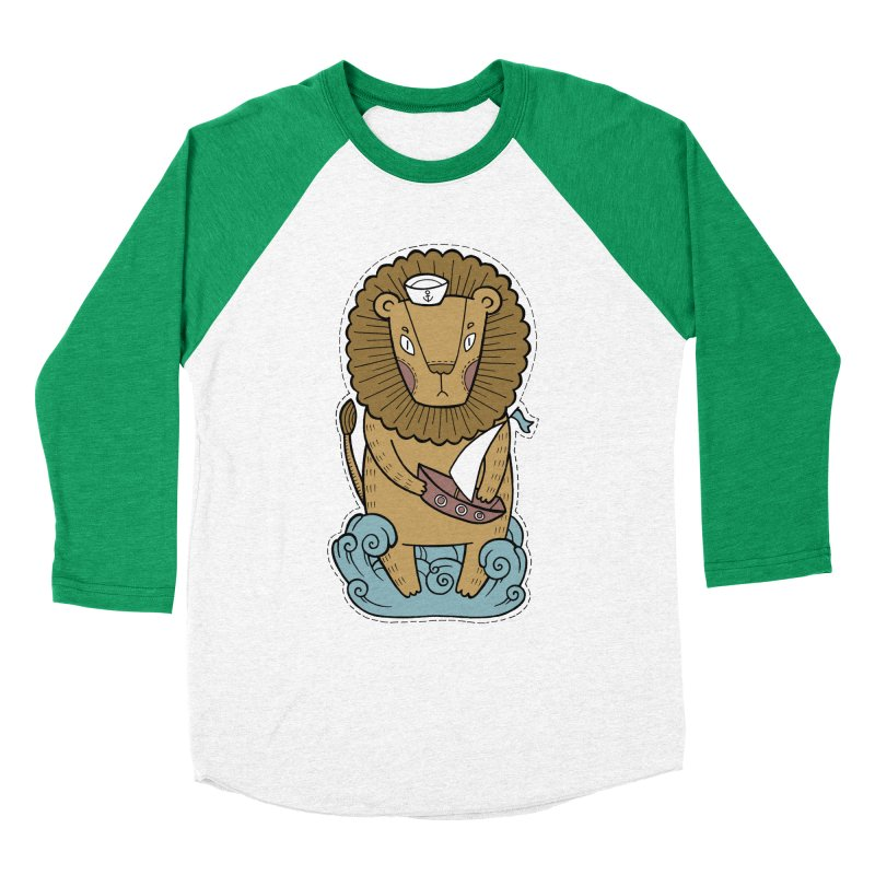 Sailor Lion Women's Baseball Triblend Longsleeve T-Shirt by Crazy Pangolin's Artist Shop