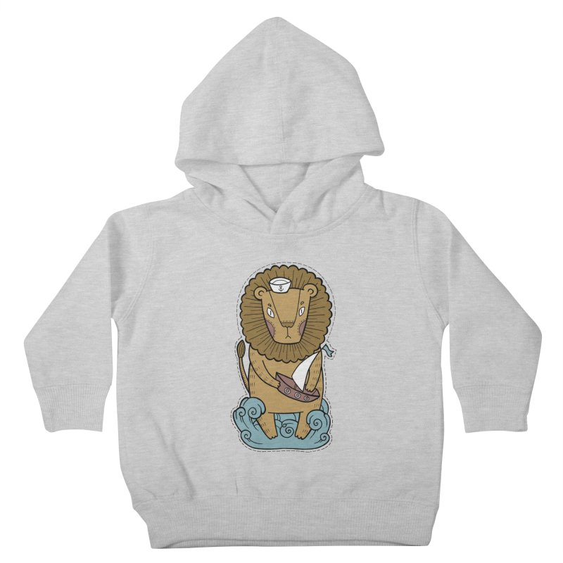 Sailor Lion Kids Toddler Pullover Hoody by Crazy Pangolin's Artist Shop