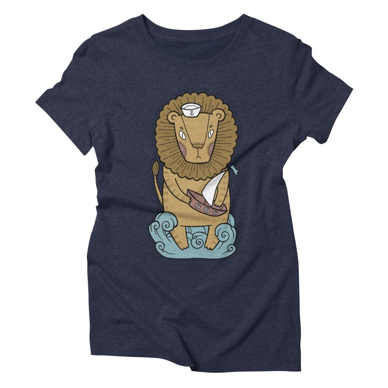 Sailor Lion Women's Triblend T-Shirt by Crazy Pangolin's Artist Shop