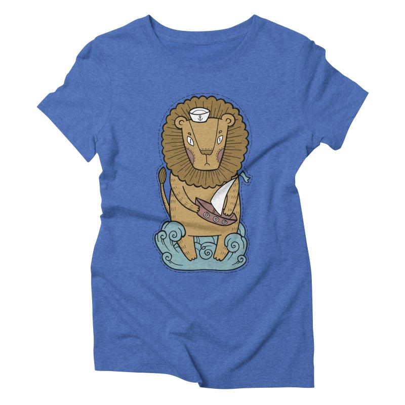 Sailor Lion Women's Triblend T-Shirt by Crazy Pangolin's Artist Shop