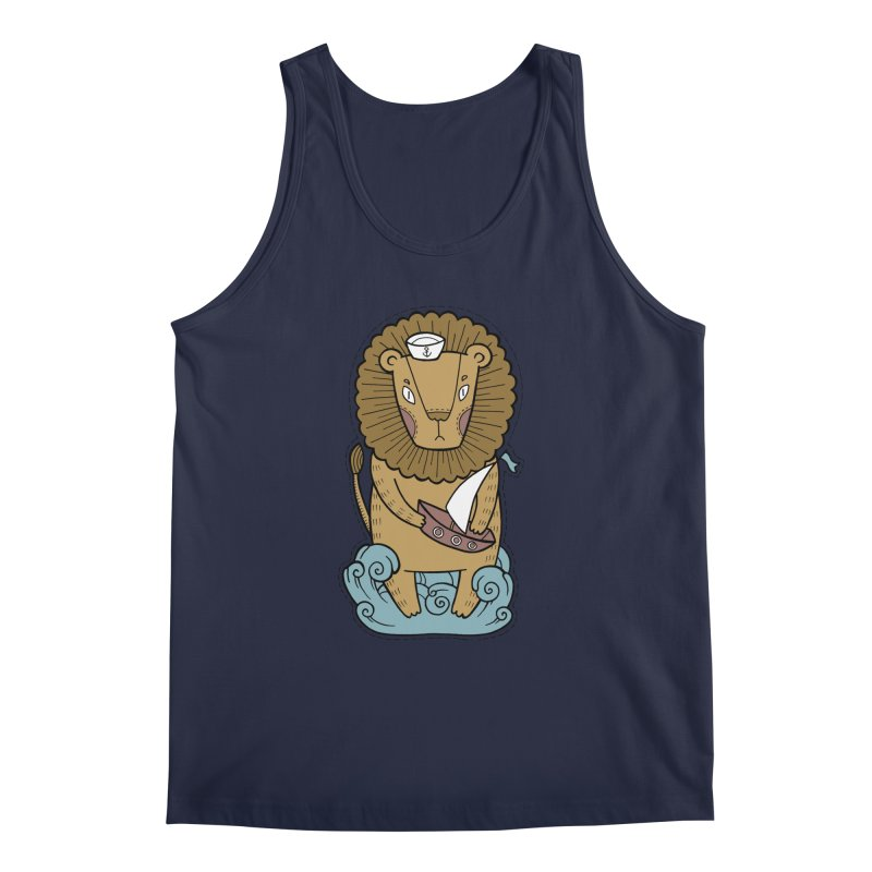 Sailor Lion Men's Regular Tank by Crazy Pangolin's Artist Shop