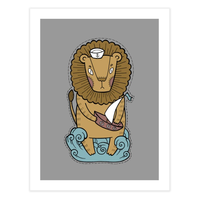 Sailor Lion Home Fine Art Print by Crazy Pangolin's Artist Shop