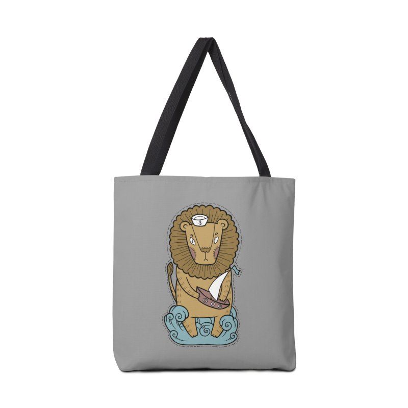 Sailor Lion Accessories Tote Bag Bag by Crazy Pangolin's Artist Shop