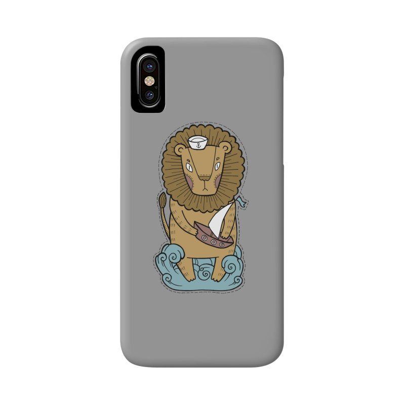 Sailor Lion Accessories Phone Case by Crazy Pangolin's Artist Shop