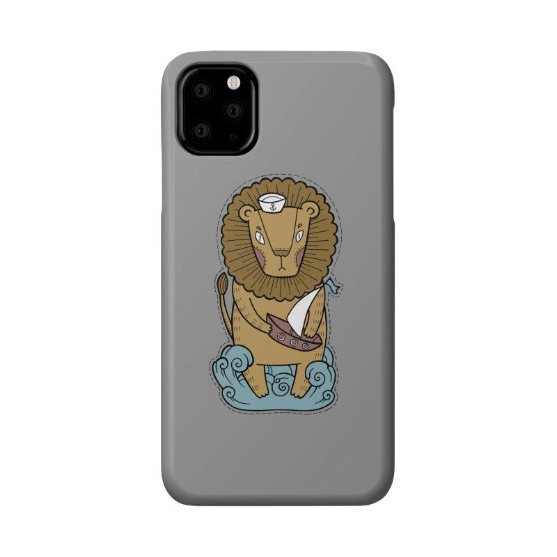 Sailor Lion Accessories Phone Case by Crazy Pangolin's Artist Shop