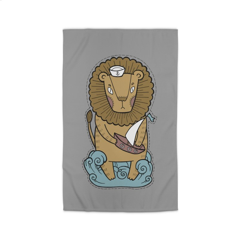 Sailor Lion Home Rug by Crazy Pangolin's Artist Shop
