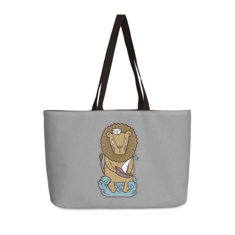 Sailor Lion Accessories Weekender Bag Bag by Crazy Pangolin's Artist Shop