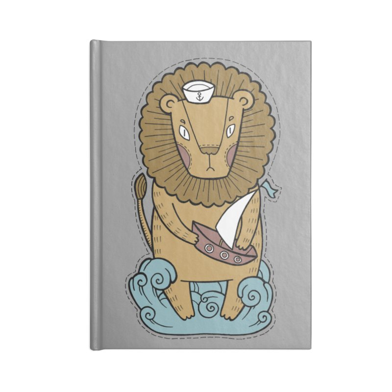 Sailor Lion Accessories Blank Journal Notebook by Crazy Pangolin's Artist Shop