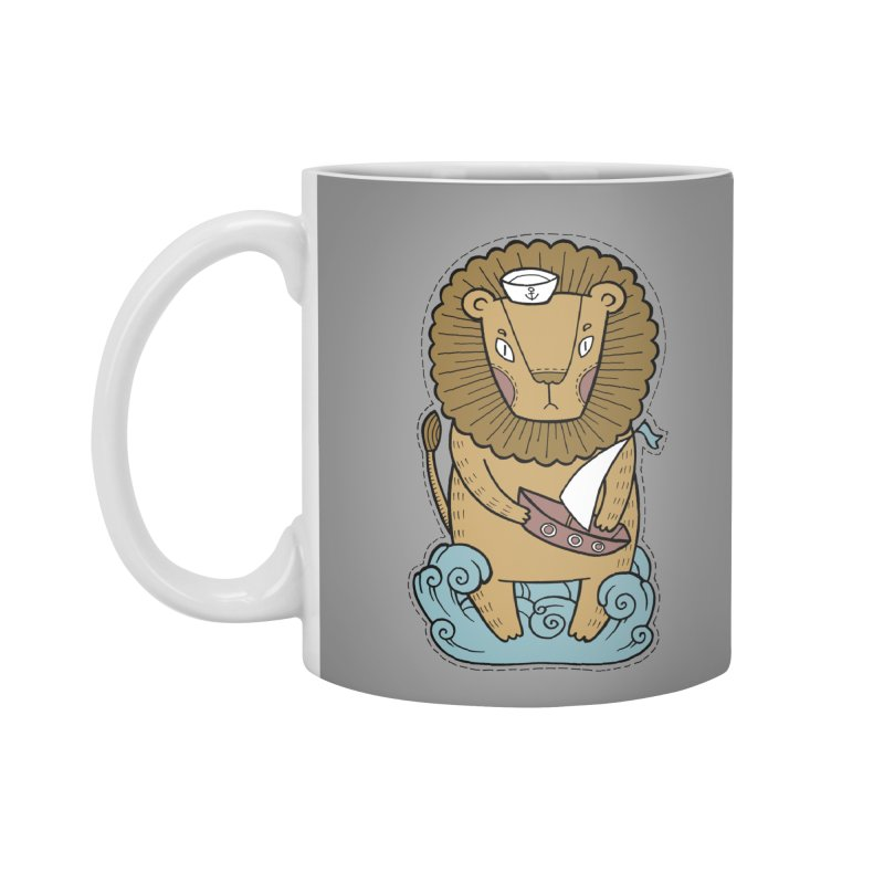 Sailor Lion Accessories Standard Mug by Crazy Pangolin's Artist Shop