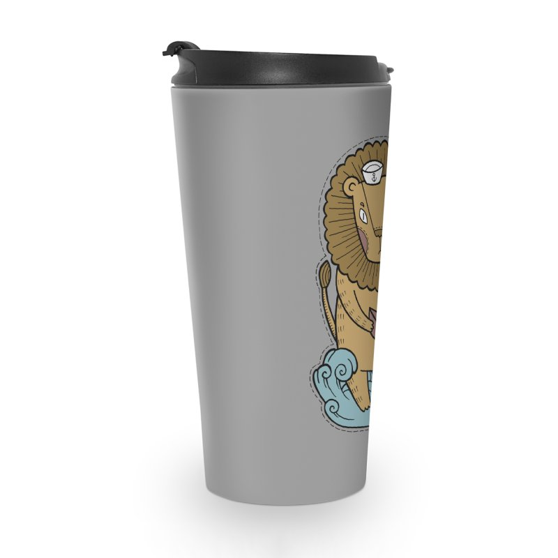 Sailor Lion Accessories Travel Mug by Crazy Pangolin's Artist Shop