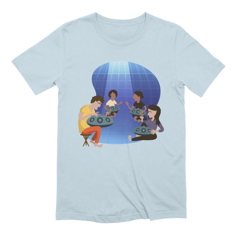 Halo Family Illustration Men's Extra Soft T-Shirt by Pantheon Steel Fan-Art Store