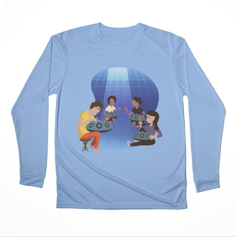 Halo Family Illustration Men's Performance Longsleeve T-Shirt by Pantheon Steel Fan-Art Store