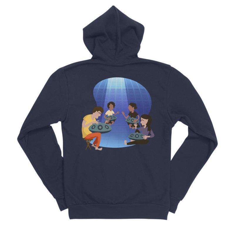 Halo Family Illustration Women's Sponge Fleece Zip-Up Hoody by Pantheon Steel Fan-Art Store